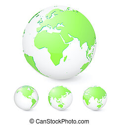 green globes - illustration set of green globes showing our...