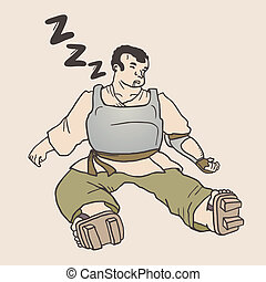 Sleep man - Creative design of sleep man