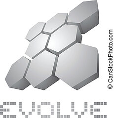 Evolve icon - Creative design of evolve icon