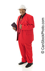 Spiffy Church-Goer - Full-length image of a senior man...