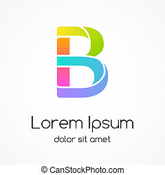 Logo letter B company vector design template. - Modern color...