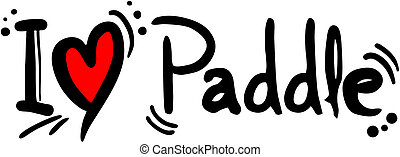 Paddle love - creative design of paddle love