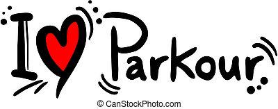 Parkour love - Creative design of parkour love