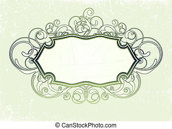 titling frame - illustration of titling frame on the Grunge...