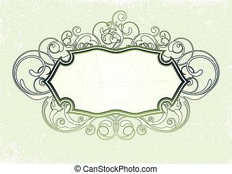 titling frame - illustration of titling frame on the Grunge...