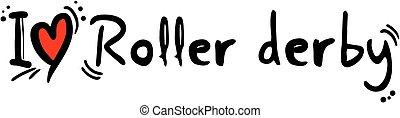 Roller derby love - creative design fo roller derby love