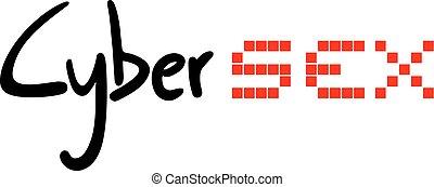 Cybersex sign - Creative design of cybersex sign