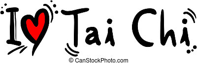 Tai chi love - Creative design of tai chi love