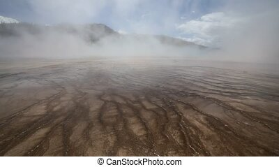 Grand Prismatic Spring in Yellowstone National Park,...