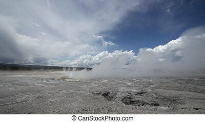 Clepsydra Geyser in Yellowstone Nat - Yellowstone National...