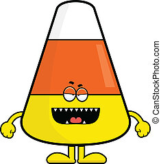 Cartoon Candy Corn Monster