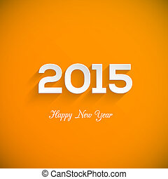 Happy new year 2015 creative greeting card design...