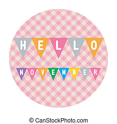 Hello November2 - Hello November card for greeting