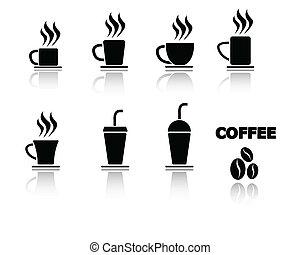 Coffee Cup Icon Symbol Vector Set