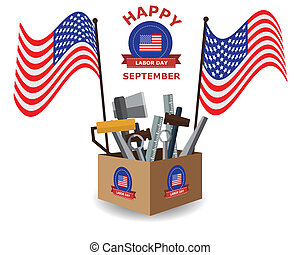 Happy Labor Day Background - Happy Labor Day on September...