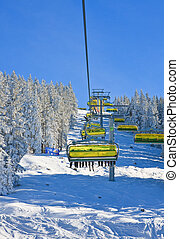 Ski resort Schladming Austria - Chairlift Ski resort...