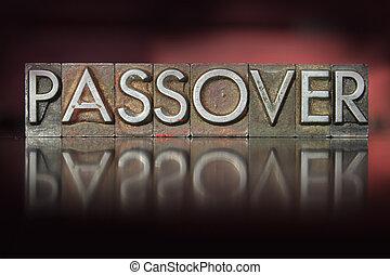 passover,  Letterpress