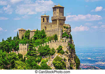 Rocca della Guaita, the most ancient fortress of San Marino,...
