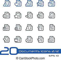 Documents Icons - Set 22 - Line - Vector Icons for your...