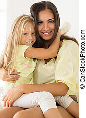 Beautiful Mother and daughter - Beautiful young Mother and...