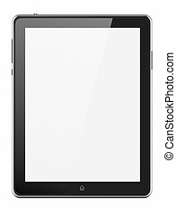 Custom tablet with blank screen