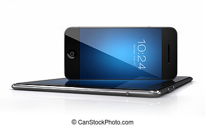 Smart phone and tablet with blue screen