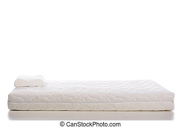 Mattress - Orthopedic mattress double mattress, isolated on...