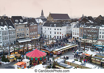 View of Maastricht in Netherlands - Beautiful view on the...