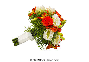 bouquet of roses on a white background isolated
