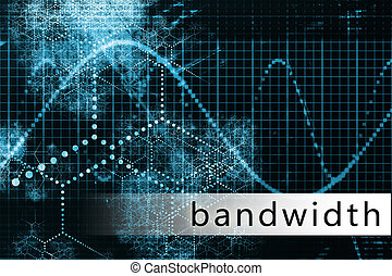 Bandwidth as a Technology Background Illustration