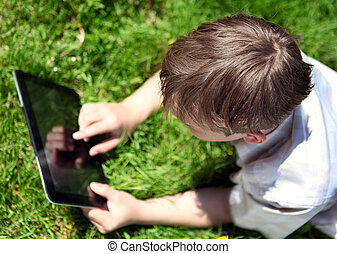 Kid with Tablet Computer