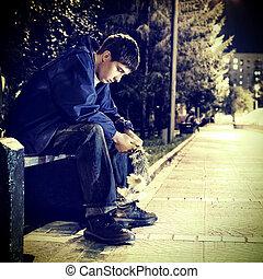 triste, adolescente