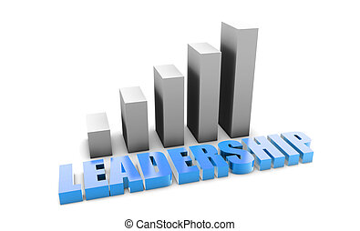Leadership in 3d With Business Graph Chart
