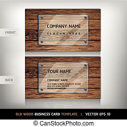 Old Wooden Texture Business Card