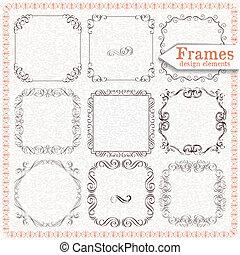 set ornate vintage frames