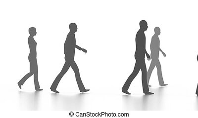 Walking people in crowd - Business concept