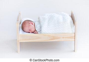 brinquedo, cobertor, Minúsculo, dormir, recem nascido,...
