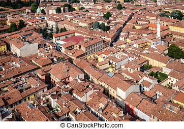 Cremona aerial view, Italy