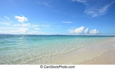 Summertime at the - The cobalt blue sea and blue sky of...