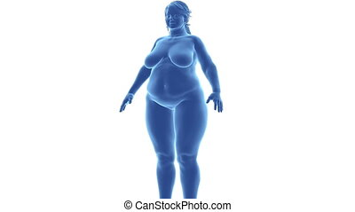 Female - from obesity to slim in time lapse with alpha...