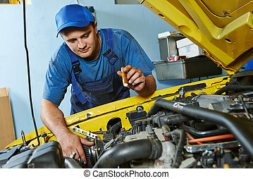 auto mechanic repairman at work