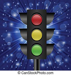 traffic light - colorful illustration with traffic light on...