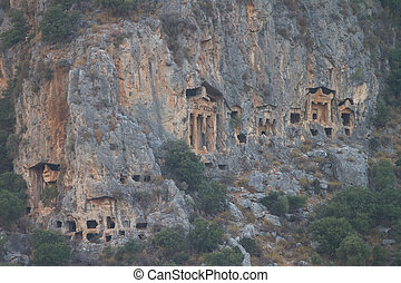 Kaunian rock tombs