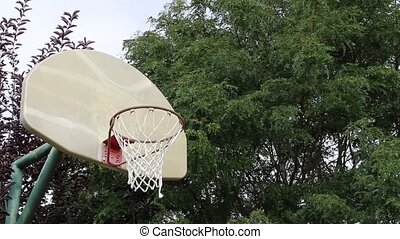 Basketball Miss 02 - A missed shoot on an outdoor basketball...