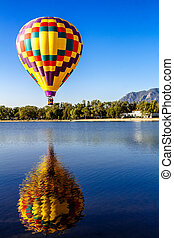 Hot Air Balloon Festival - Multi-colored hot air balloon...