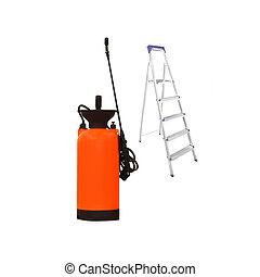 sprayer under the white background