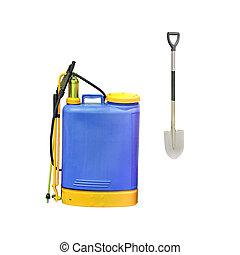 sprayer - The image of a blue sprayer
