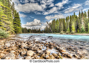 Bow River in Banff National Park