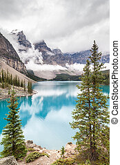 Moraine Lake and Valley of the Ten Peaks in Banff National...
