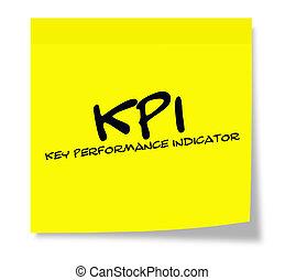 KPI Sticky Note - KPI key performance indicator written on a...